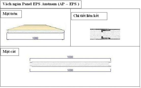 Panel EPS vách ngăn Austnam