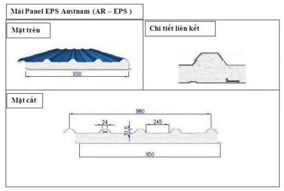 Panel EPS mái của Austnam