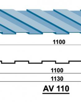 Tấm lợp tôn Austnam AV 110