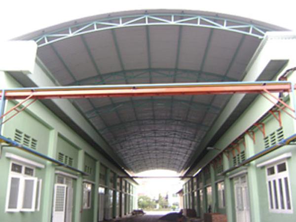 Mái tôn Austnam khi ti công nhà kho, nhà xưởng