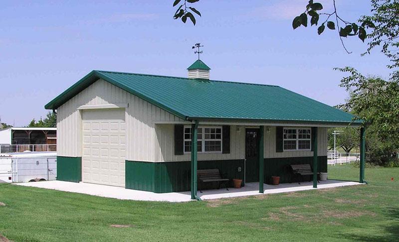 nhà cấp 4 mái tôn nông thôn