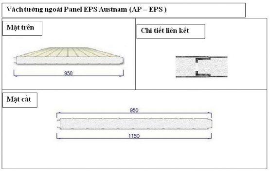 Panel EPS vách tường Austnam